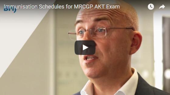 Immunisation Schedules for MRCGP AKT